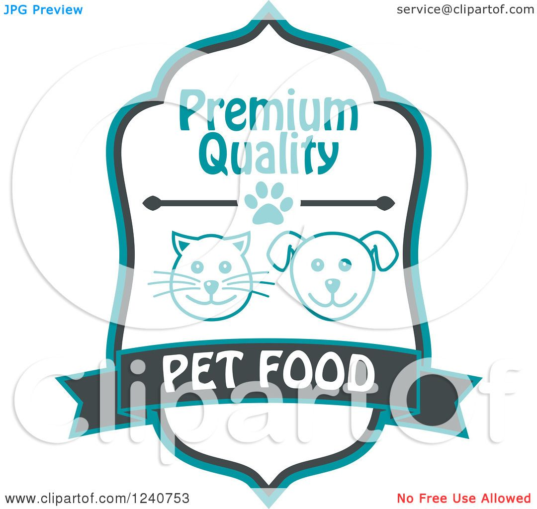 Clipart of a Cat and Dog Pet Food Label - Royalty Free ... (1080 x 1024 Pixel)