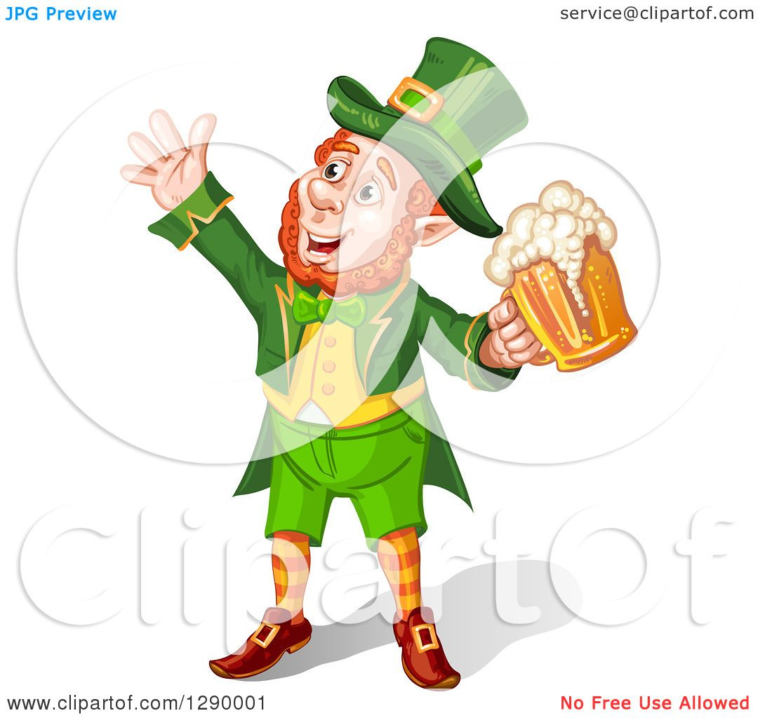 Free Clipart Of A Laughing Leprechaun Face