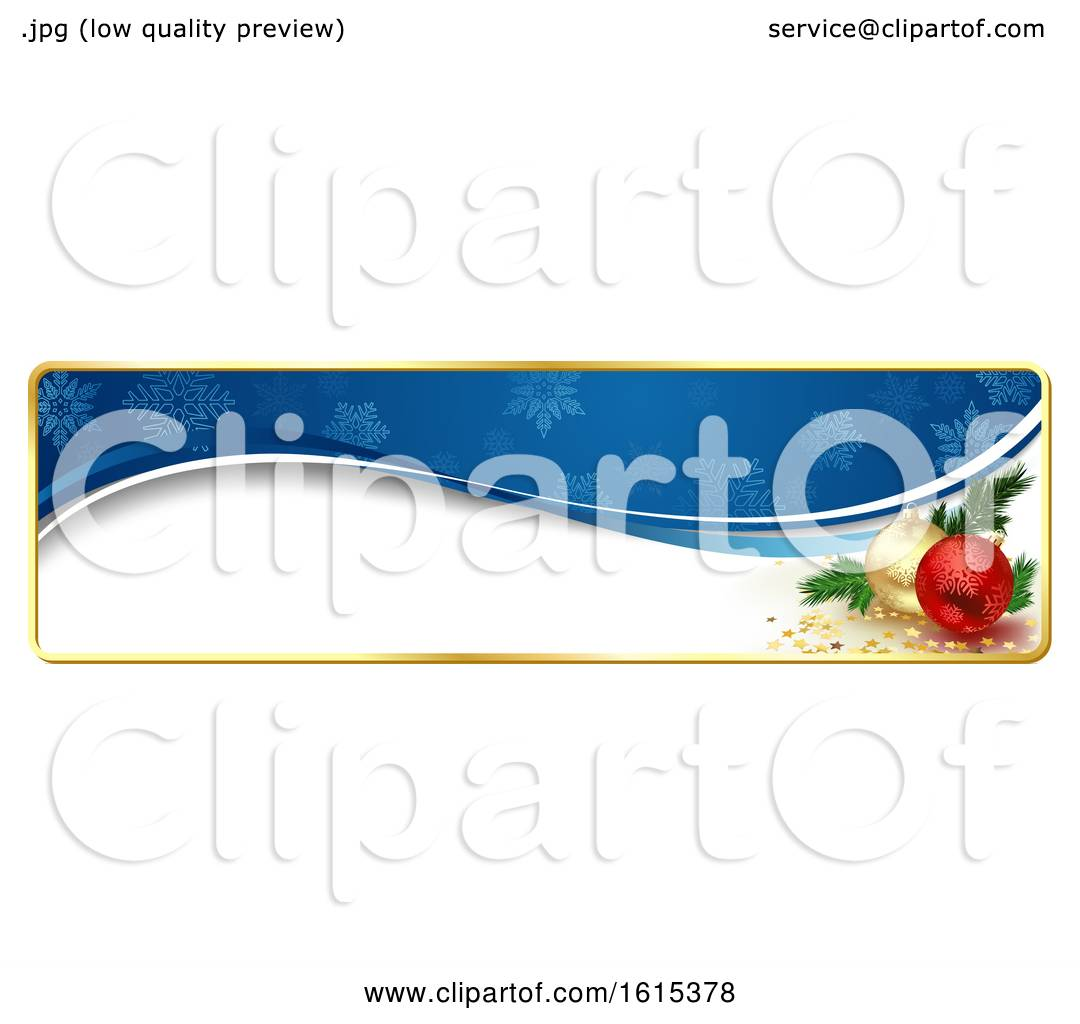 Christmas Header Clipart.Clipart Of A Christmas Website Banner Header With Baubles