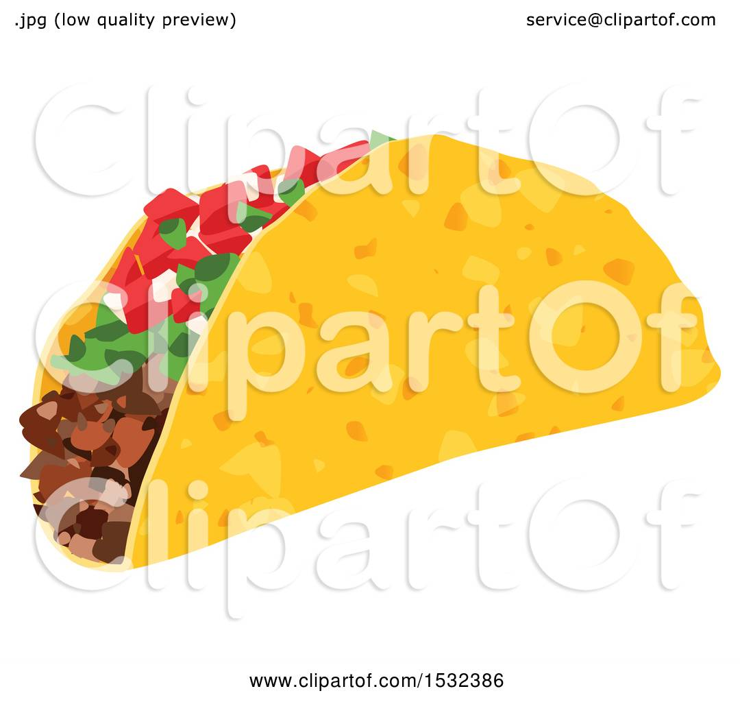 Clipart Of A Cinco De Mayo Mexican Taco Royalty Free Vector Illustration By Vector Tradition Sm 1532386
