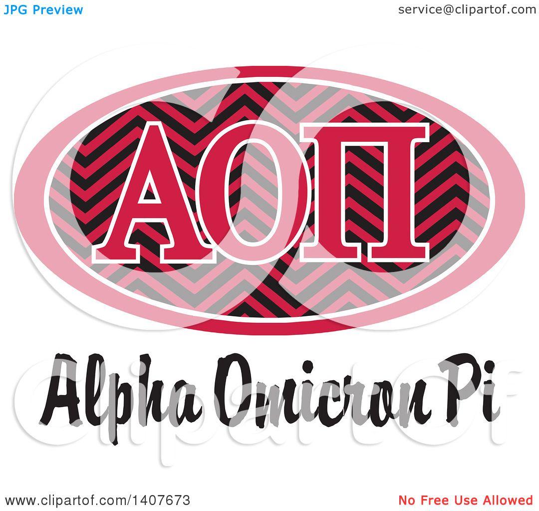 Clipart of a College Alpha Omicron Pi Sorority Organization Design ...