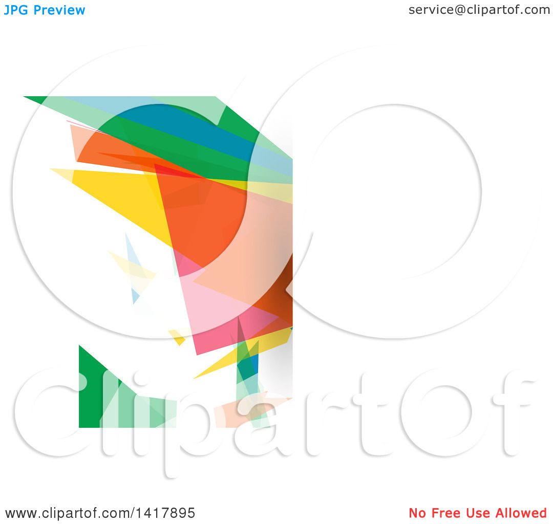 Clipart of a Colorful Business Card or Website Background Design ...
