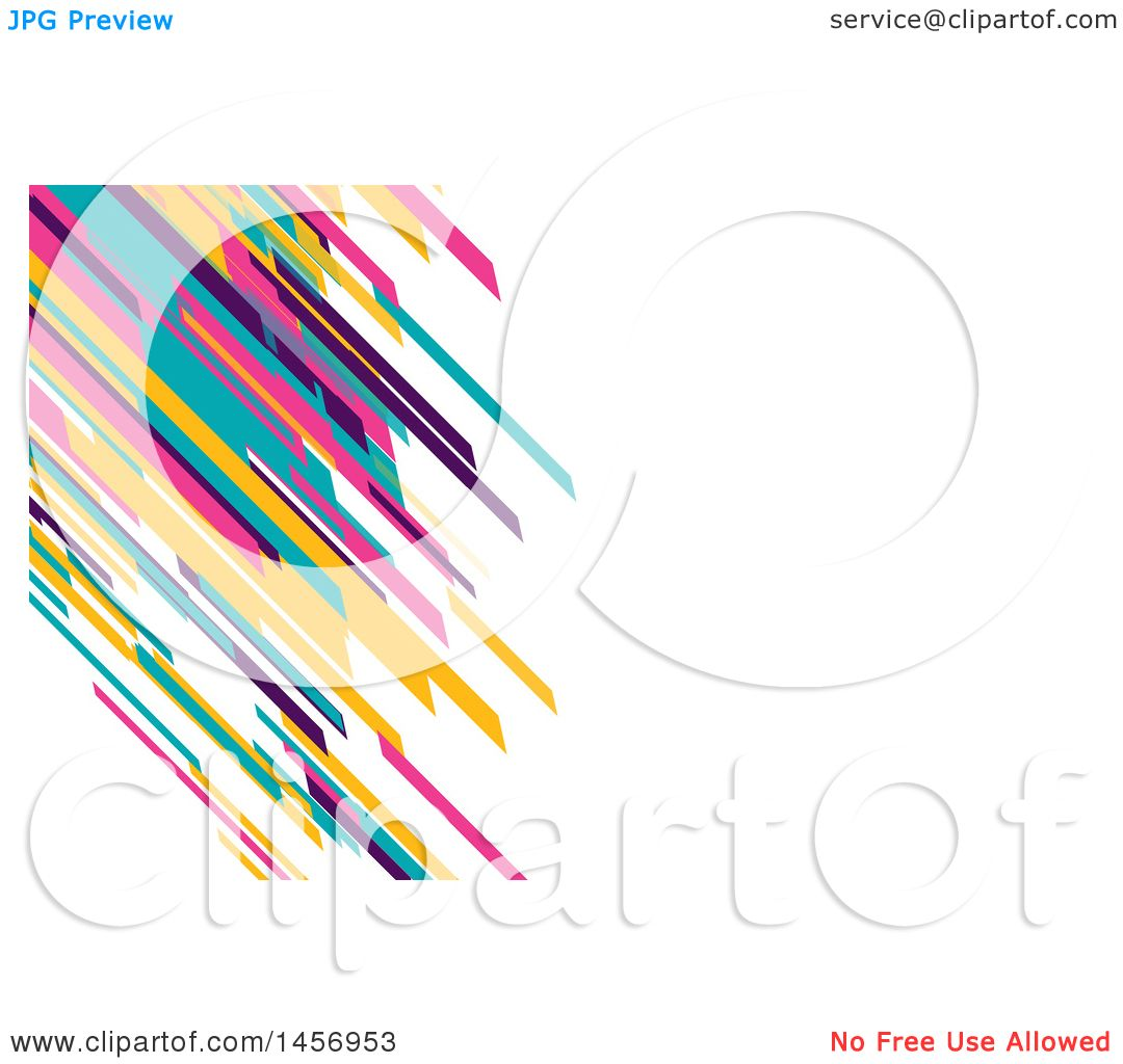clipart of a colorful diagonal lines background or