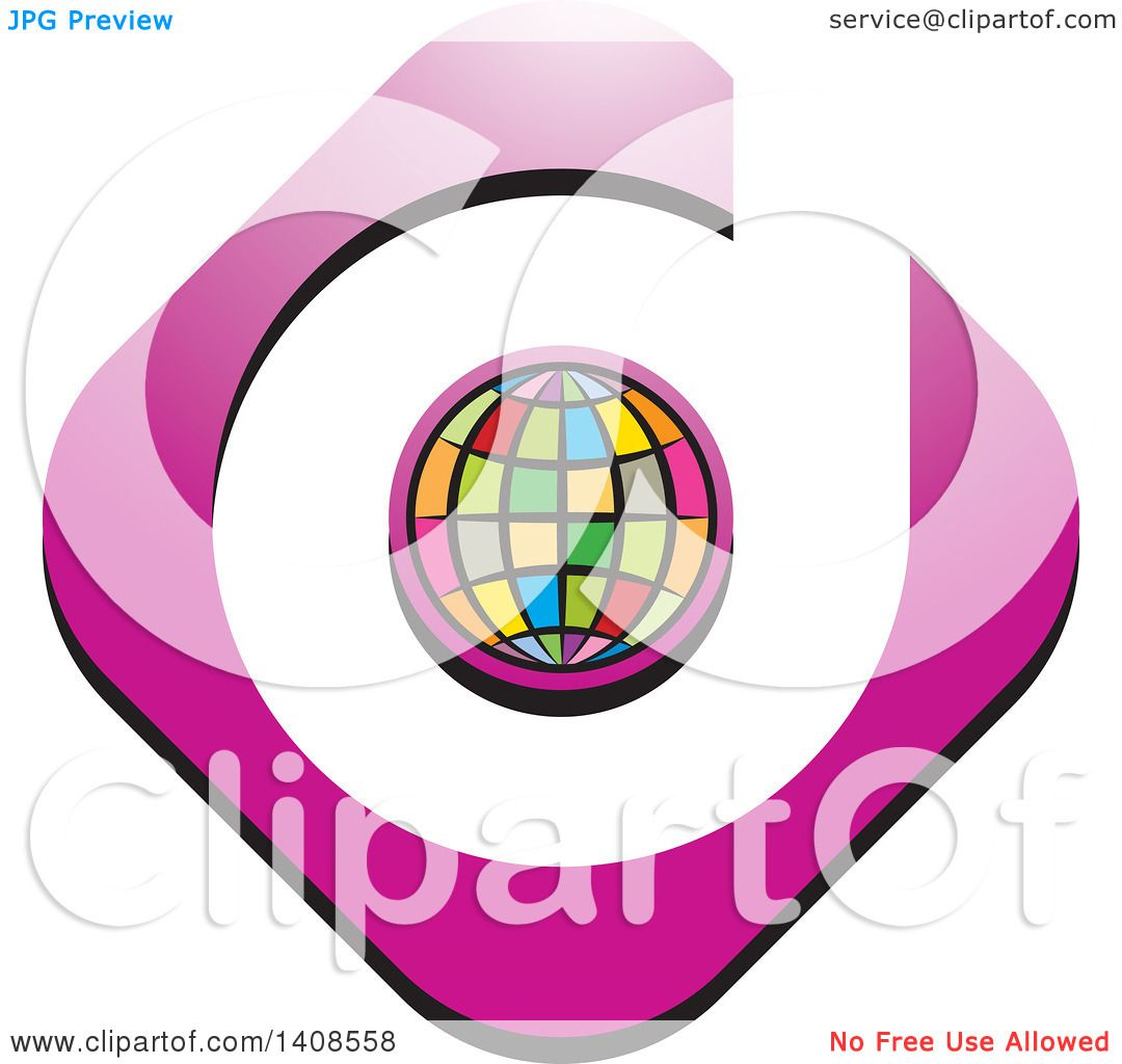Clipart of a Colorful Globe and Letter D Design - Royalty Free ...