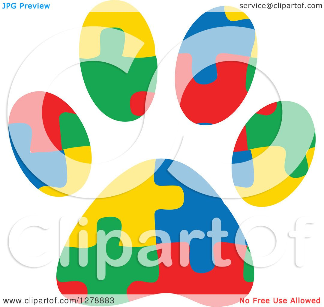 Clipart Service Dog Autism Service Dog Paw