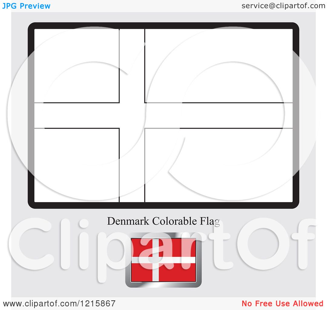 denmark flag coloring page - clipart of a coloring page and sample for a denmark flag