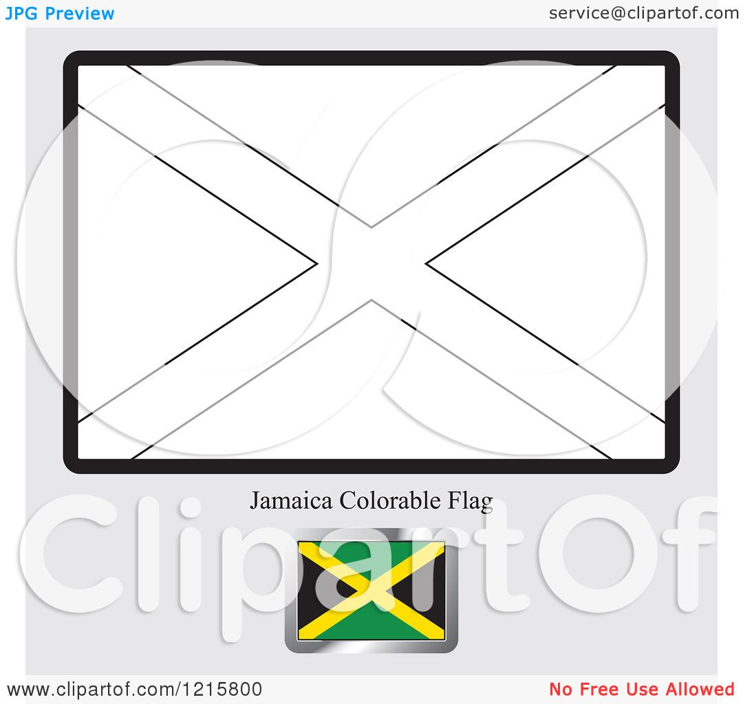 Free Coloring Pages Of Jamaican Flag
