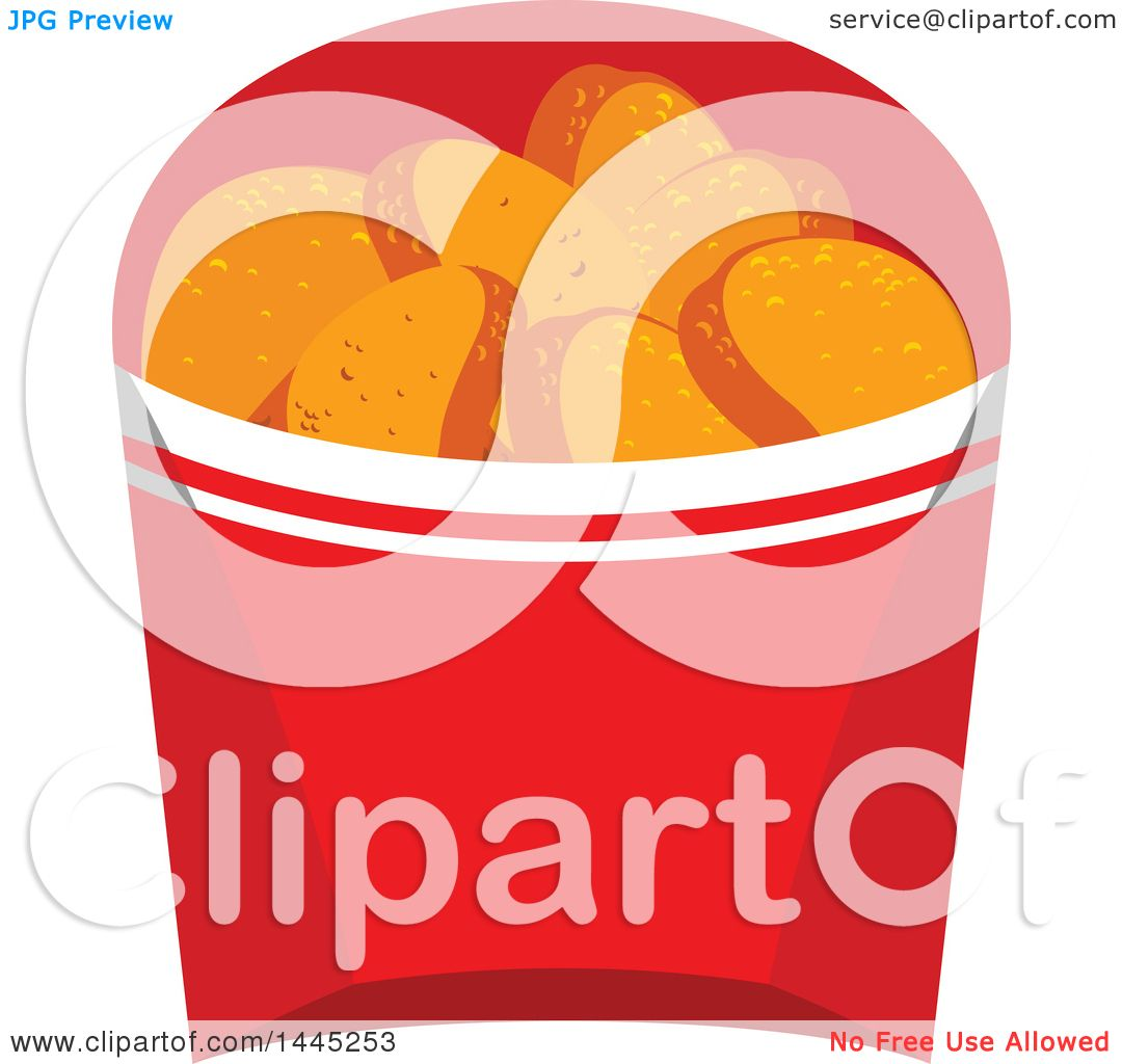 clipart of a container of chicken nuggets royalty free vector rh clipartof com