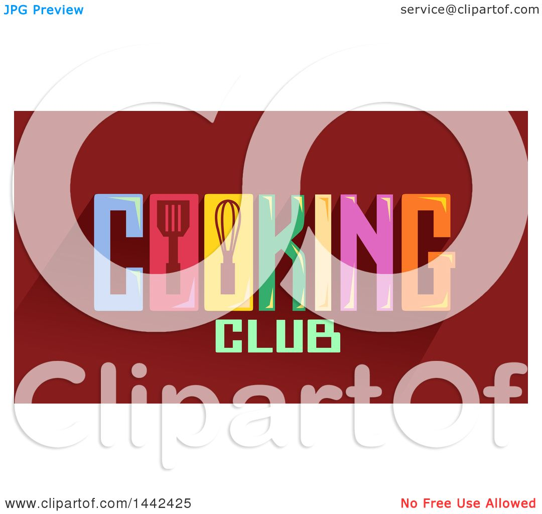 Clipart Of A Cooking Club Word Design