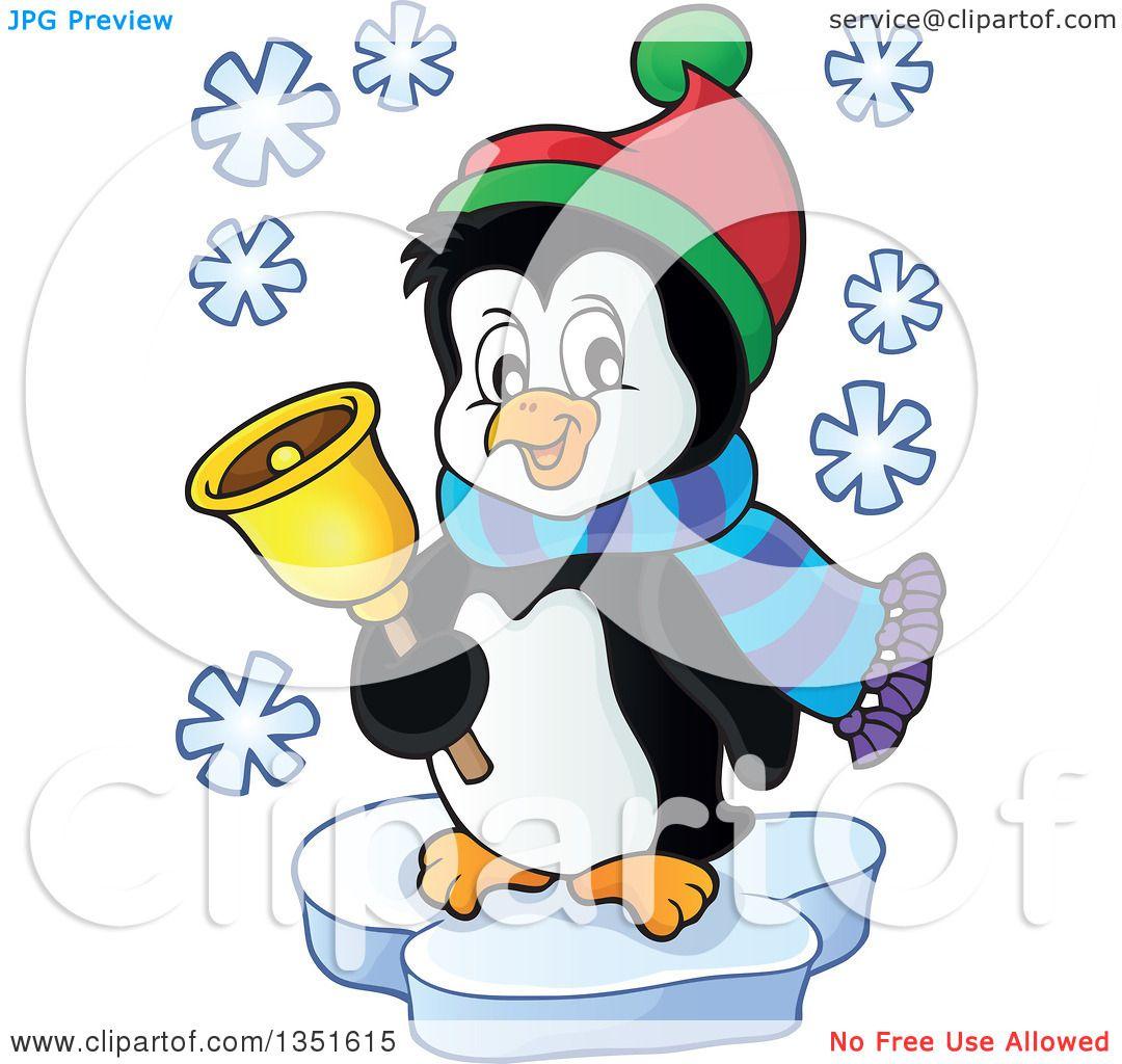 clipart of penguins singing christmas carols royalty free vector