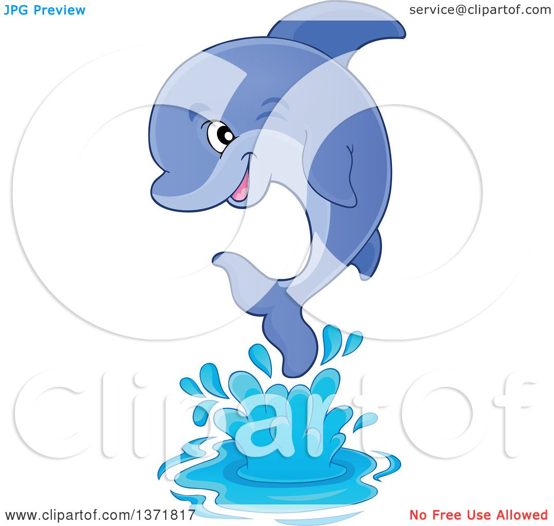 Dolphins jumping out of water clipart - photo#22