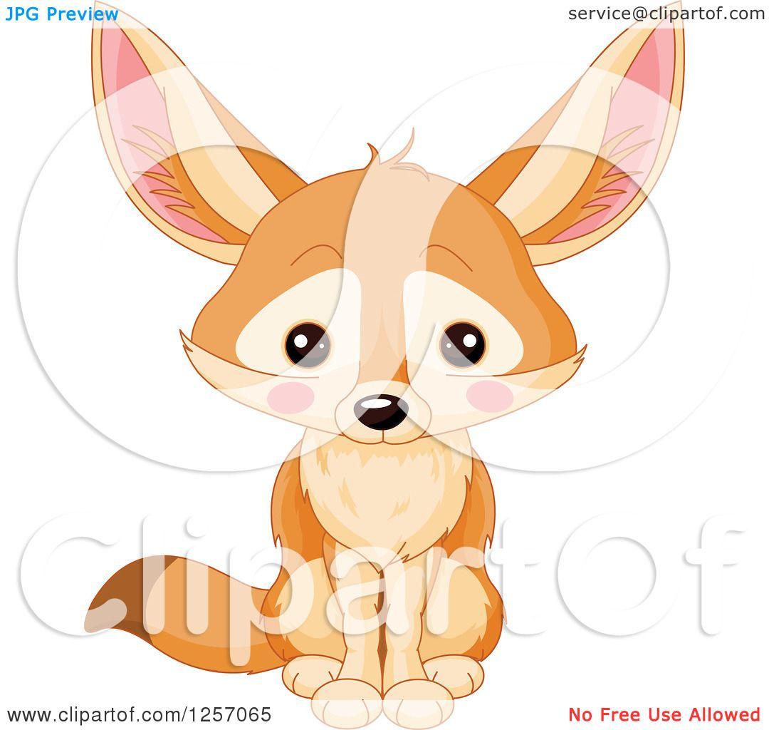 Sitting fox illustration - photo#16