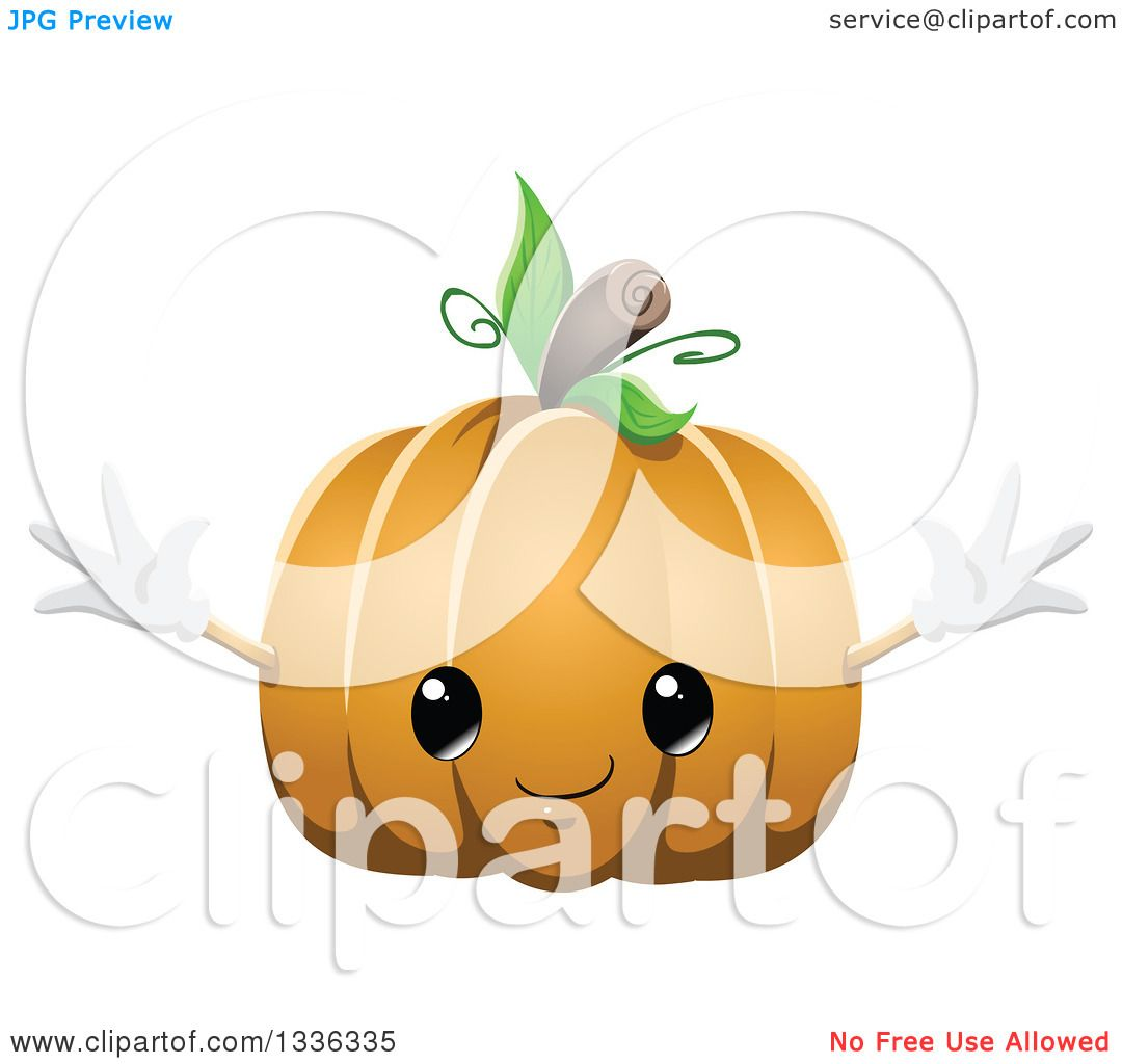 clipart of a cute halloween pumpkin character royalty free vector by liron peer