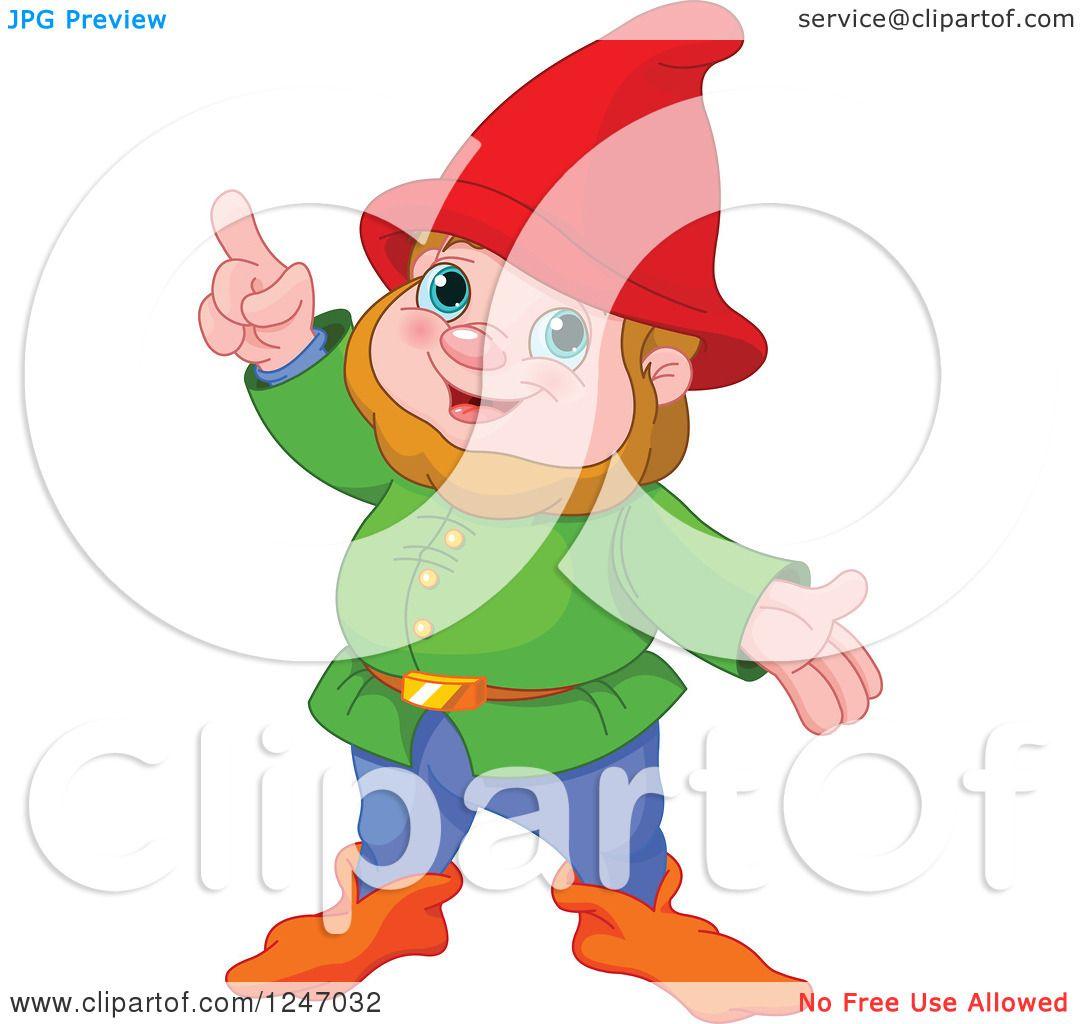Gnome Clip Art: Clipart Of A Cute Male Gnome With An Idea