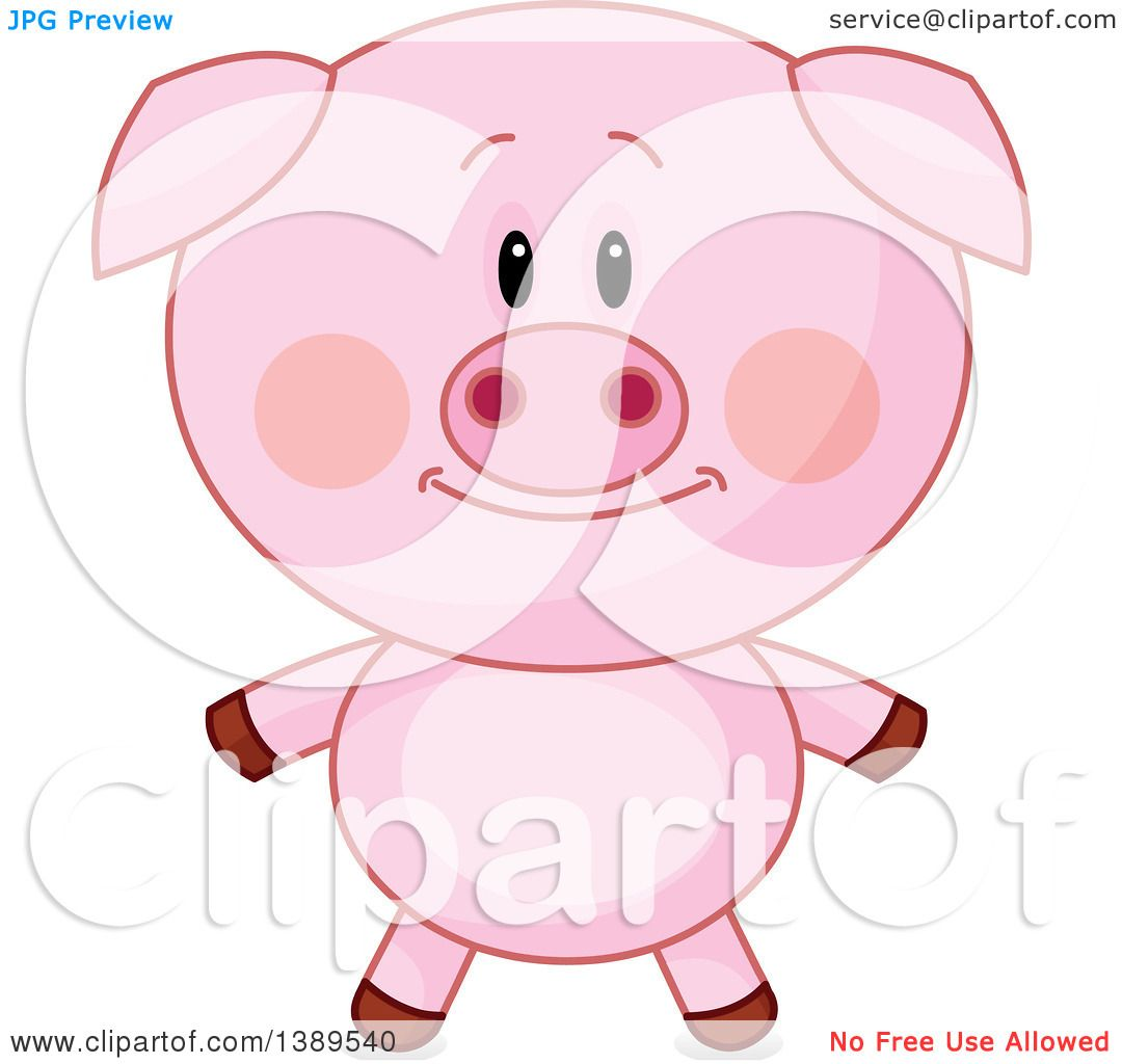 Clipart of a Cute Pig - Royalty Free Vector Illustration ...