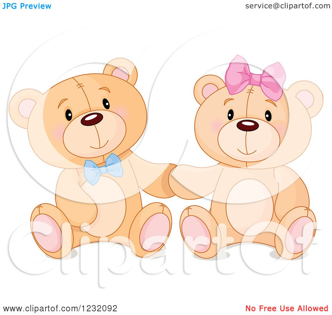Cute Teddy Clipart Clipart of a Cute Teddy Bear