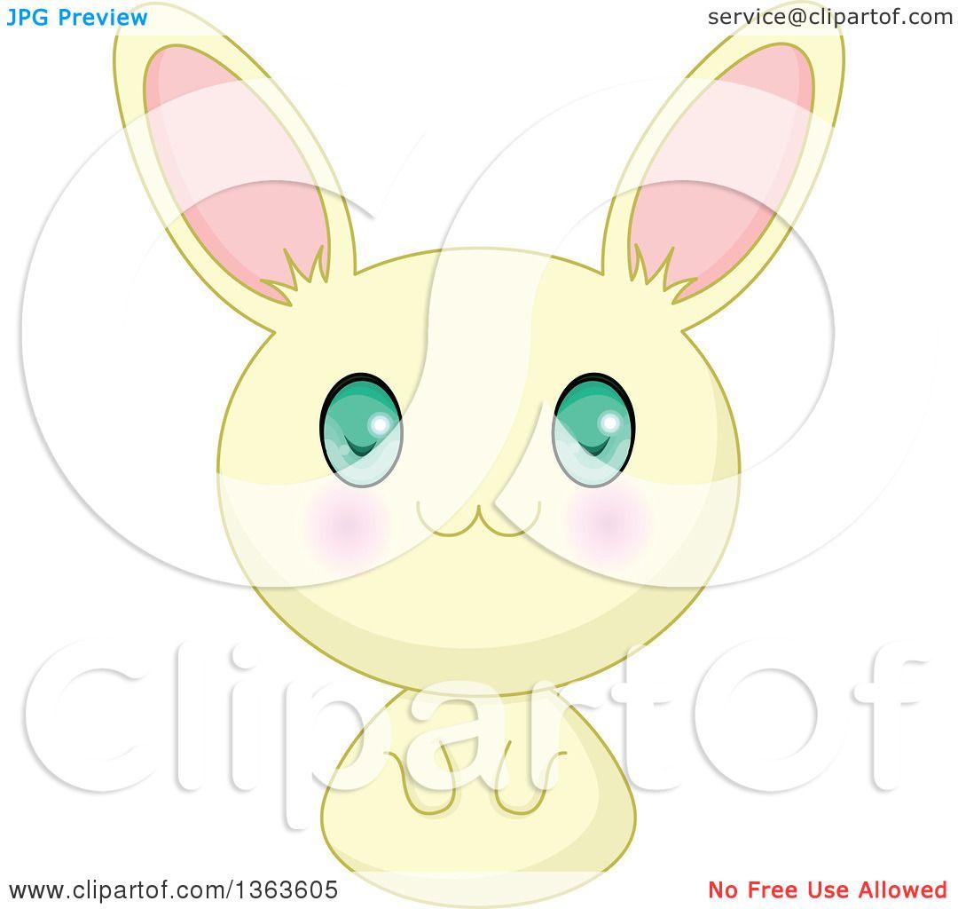 Clipart Of A Cute Yellow Manga Anime Bunny Rabbit