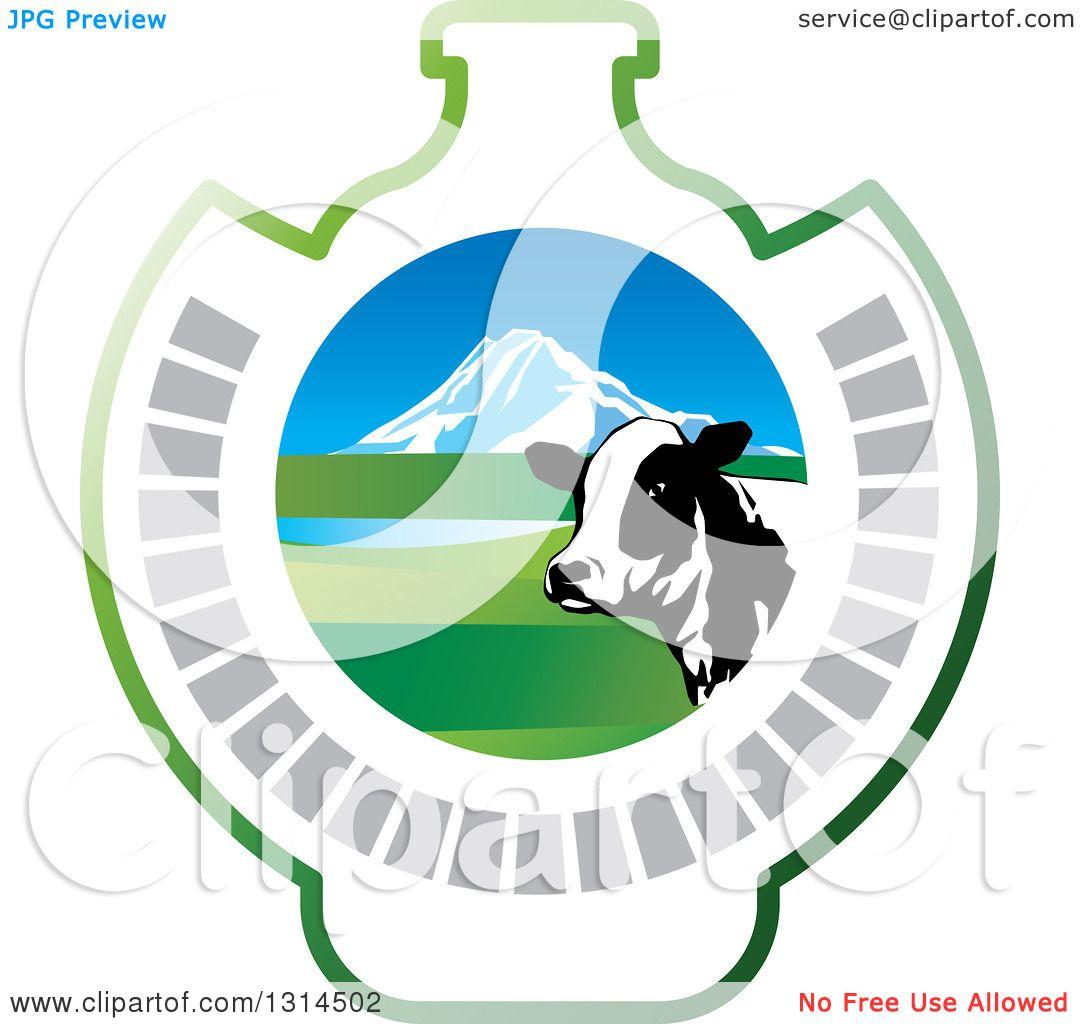 Dairy Cow Head Clip Art