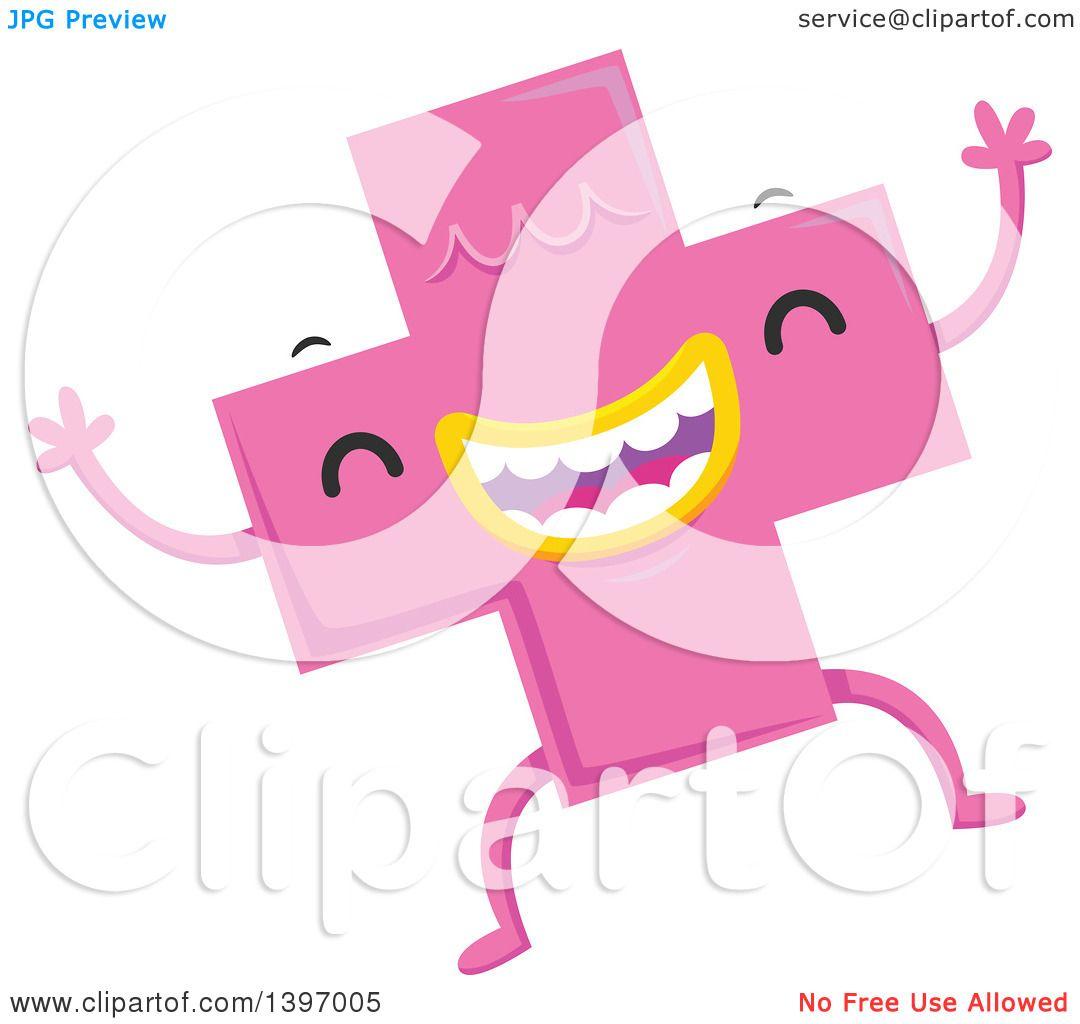 Clipart of a Dancing Pink Monster Math Addition Symbol ... | 1080 x 1024 jpeg 63kB