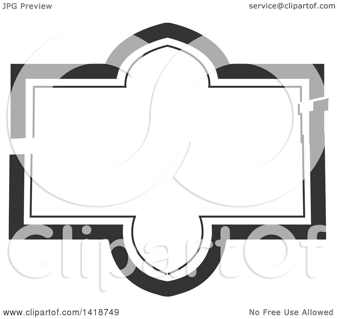 Clipart of a Dark Gray Label Frame Design - Royalty Free Vector ...