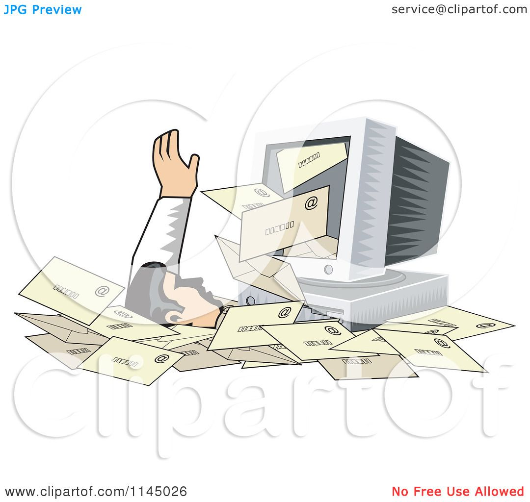 Computer Spam Clipart