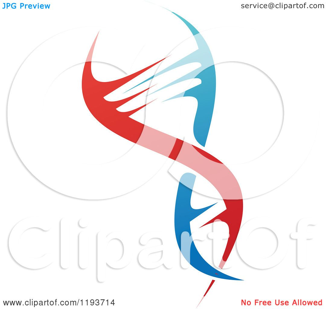 Clipart Of A Dna Double Helix Cloning Strand 2 Royalty