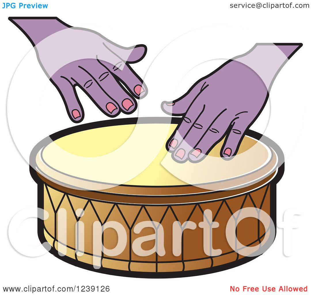 Clipart Of A Drum And Hands 4
