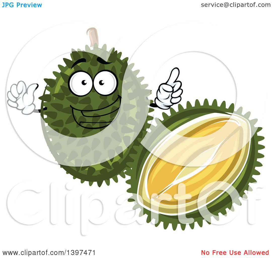 clipart of a durian fruit character royalty free vector illustration by vector tradition sm 1397471 clipart of a durian fruit character