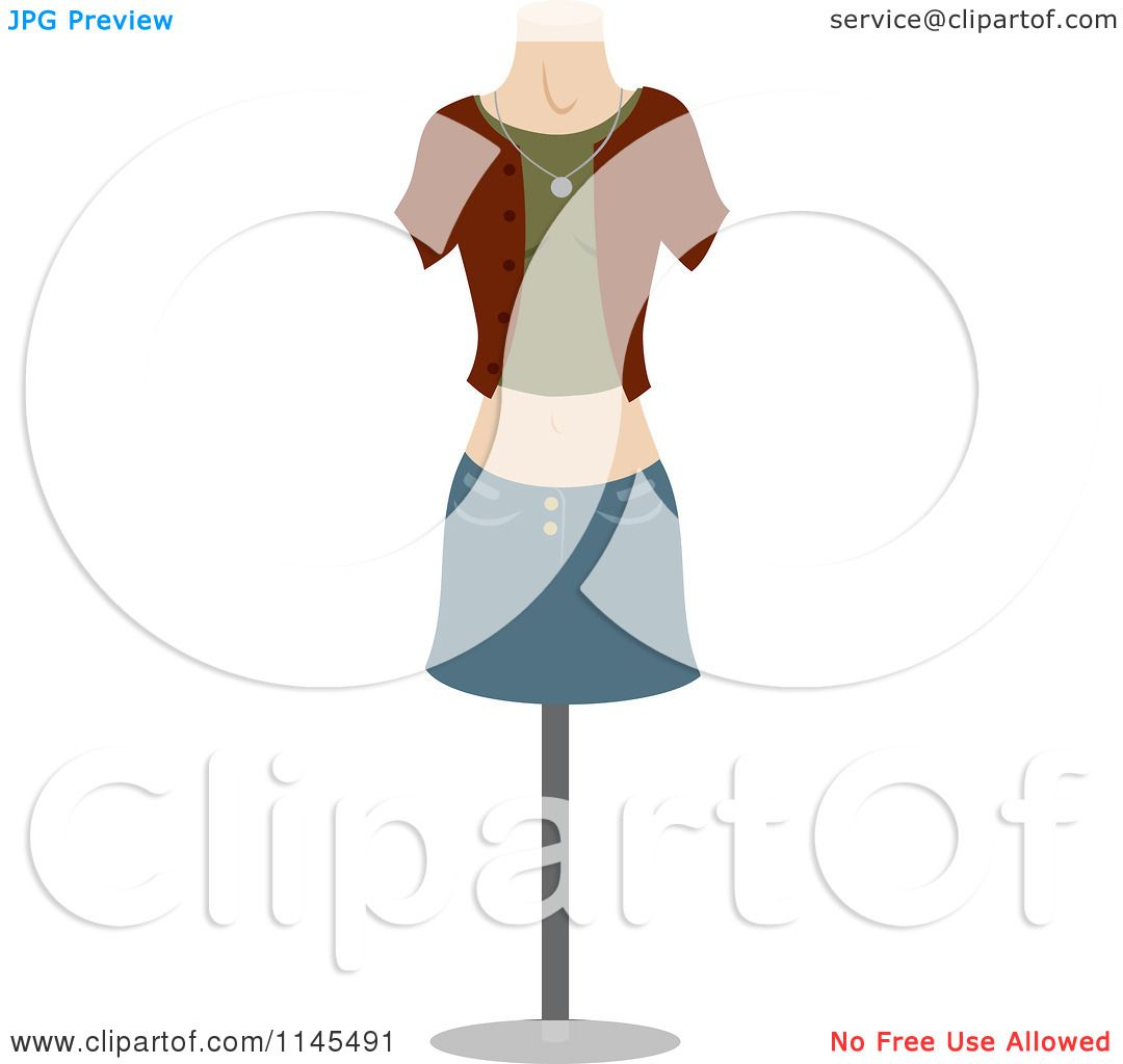 Clothing Design Mannequin Clipart of a Fashion Design