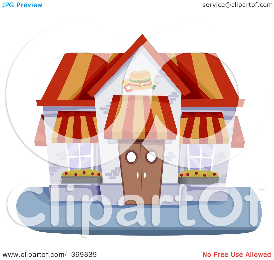 Restaurant building clipart  Clipart of a Fast Food Restaurant Building - Royalty Free Vector ...