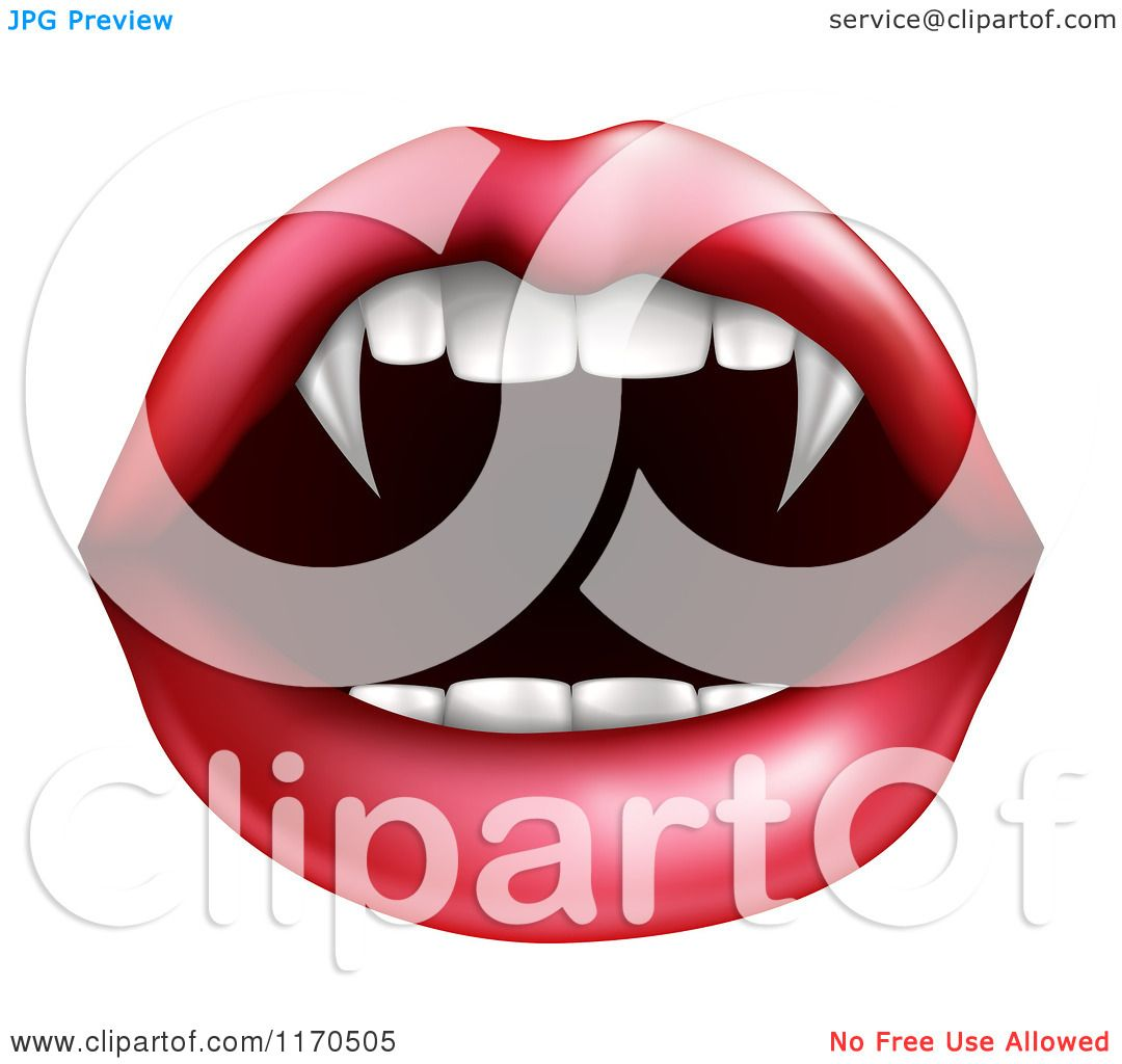 Halloween Vampire Fangs Clipart.Clipart Of A Female Mouth With Vampire Fangs Royalty Free Vector