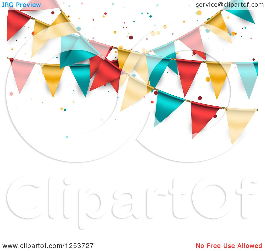 Clipart of a Festive Party Bunting
