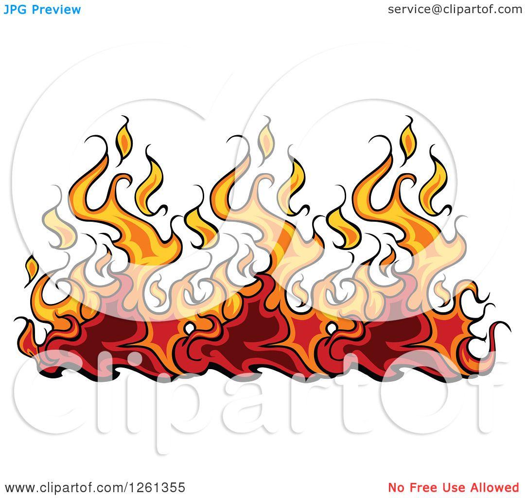 clipart of a fire border design element royalty free vector rh clipartof com fire clipart border Black Border