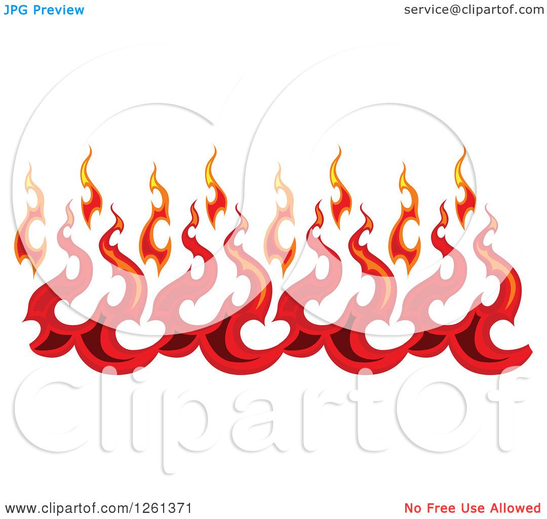 Clipart of a Fire Border Design Element - Royalty Free Vector ...