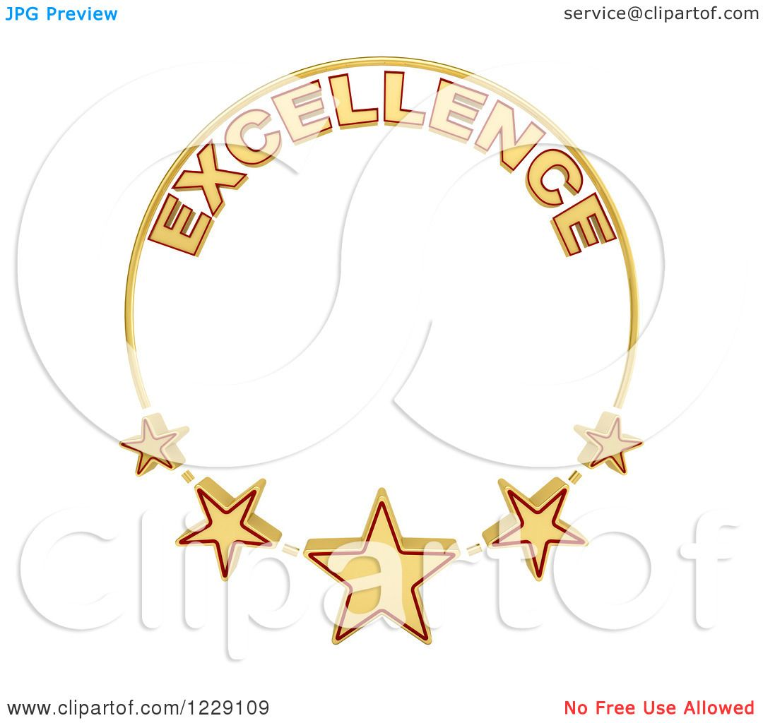 Clipart of a Five Star of Excellence Award - Royalty Free Illustration ...