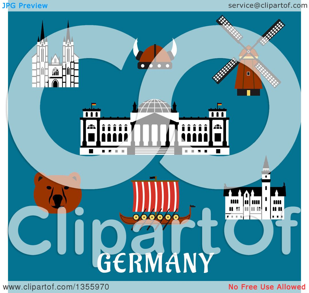 clipart of a flat design bear reichstag building gothic