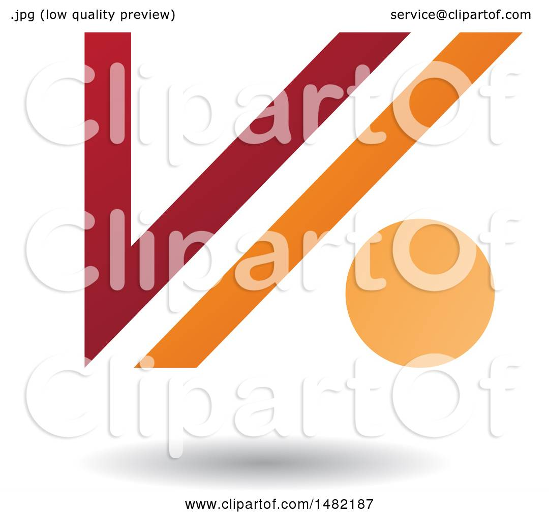 Clipart of a floating red and orange abstract letter v and dot and clipart of a floating red and orange abstract letter v and dot and shadow royalty free vector illustration by cidepix buycottarizona Image collections