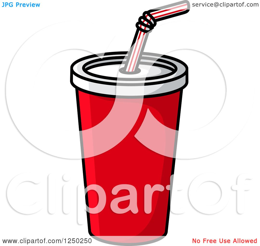 Clipart of a fountain soda cup royalty free vector for Pizza in a mug without baking soda