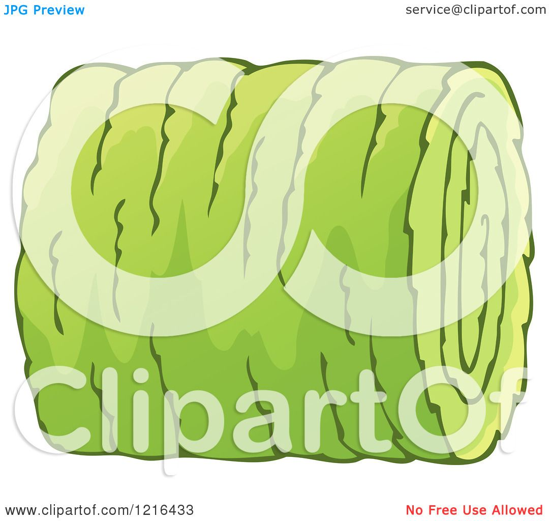 Clipart of a Freshly Rolled Hay Bale 2 - Royalty Free Vector ...