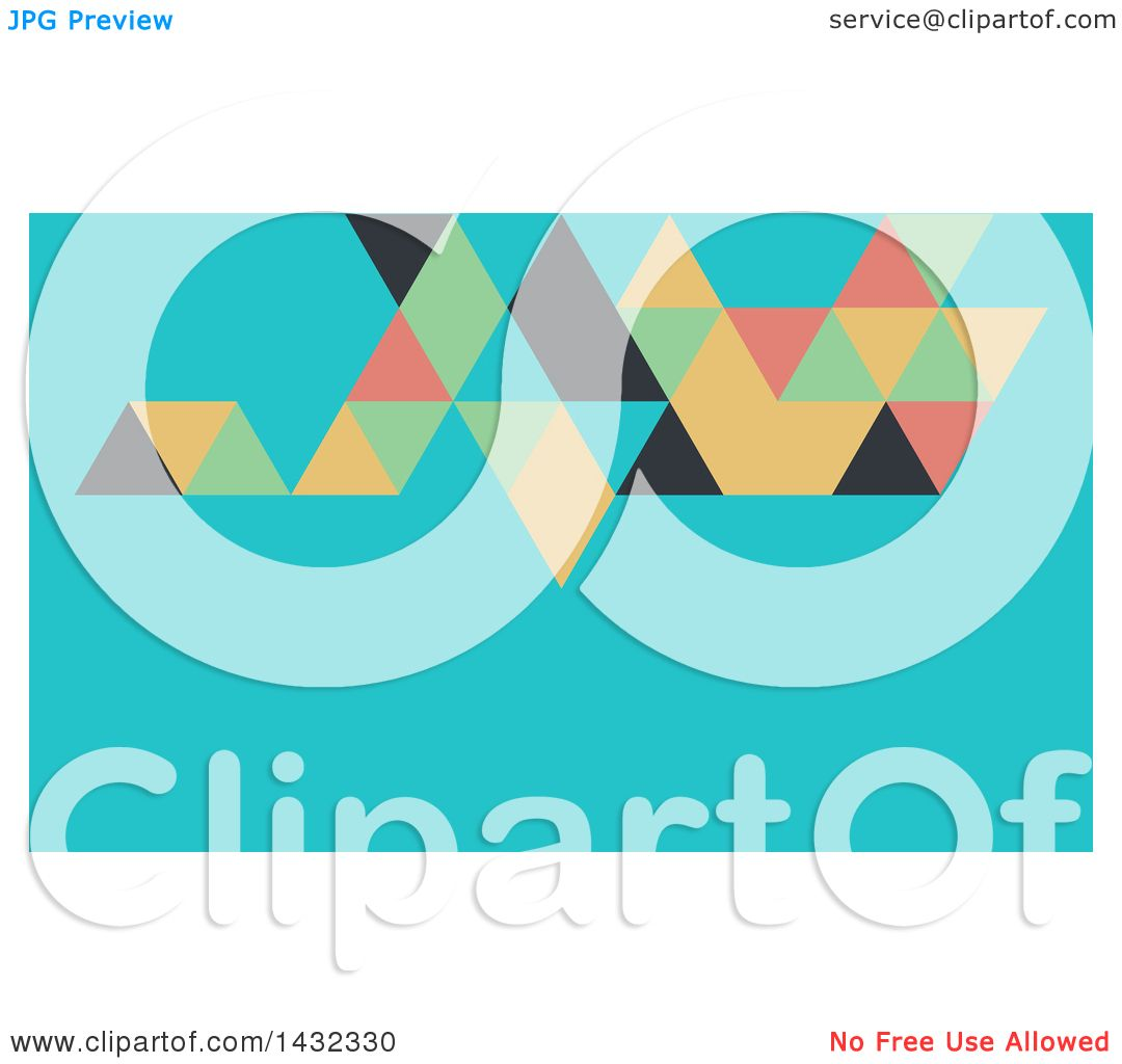 Clipart of a Geometric Abstract Blue and Colorful Business Card or ...