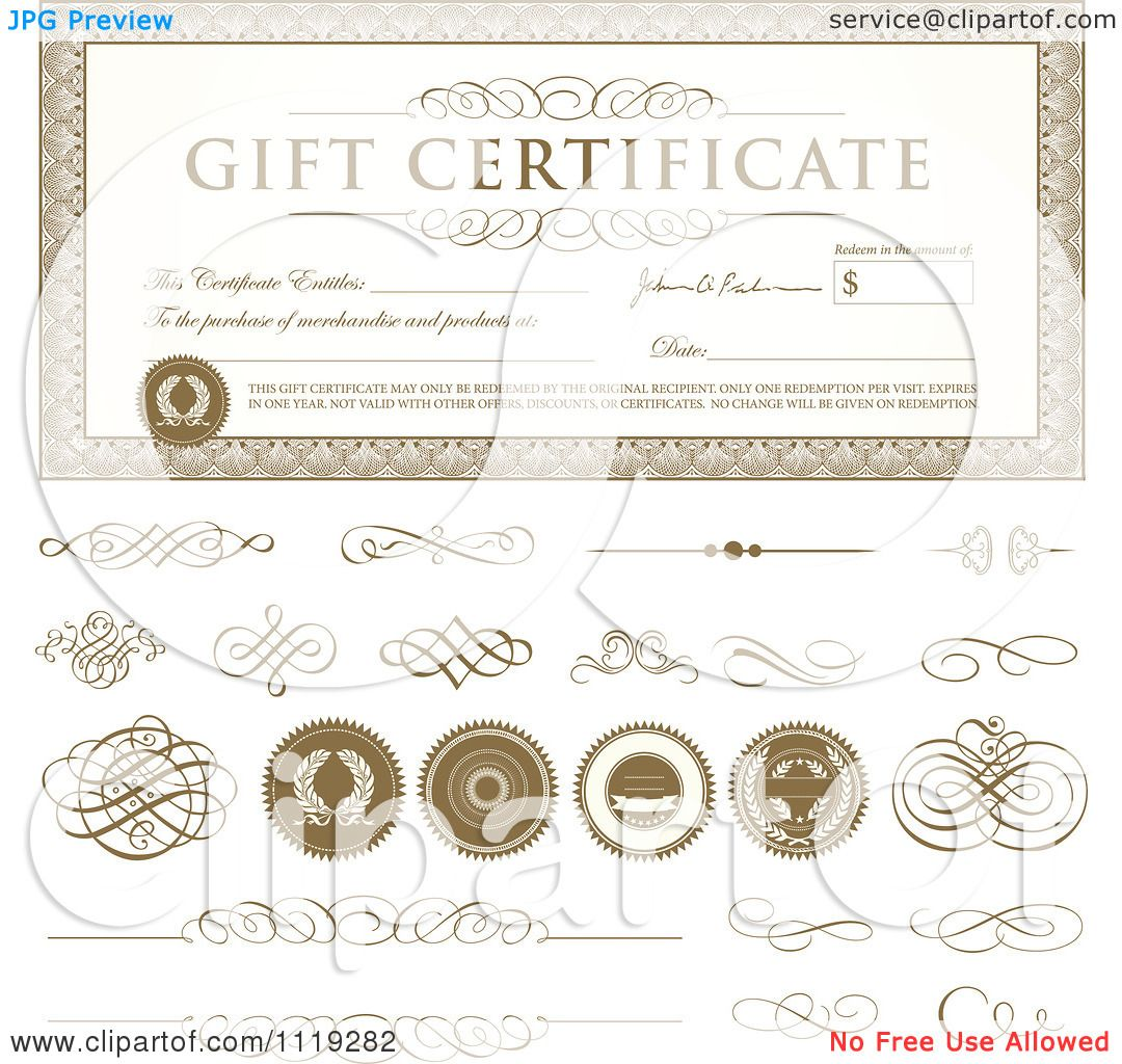 free clipart gift certificate