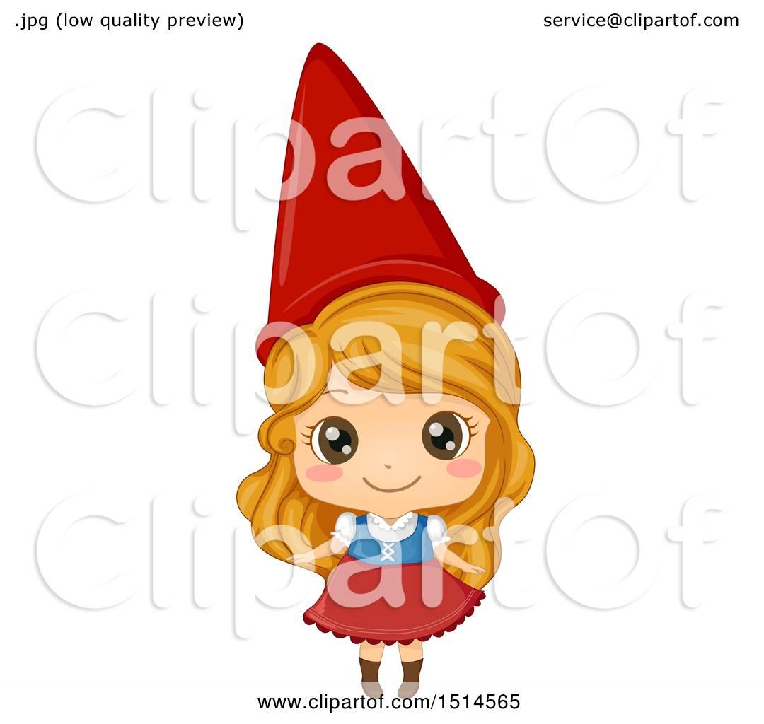 Gnome Clip Art: Clipart Of A Girl In A Garden Gnome Costume