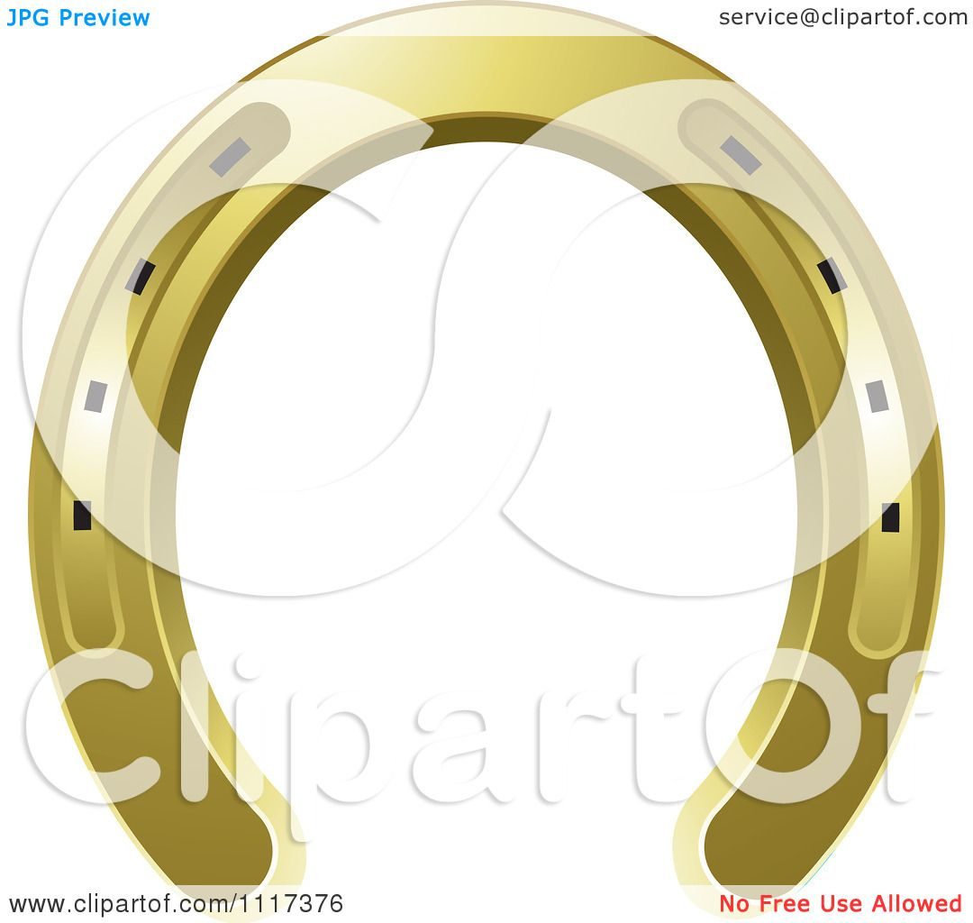 Gold horseshoe clip art images amp pictures becuo