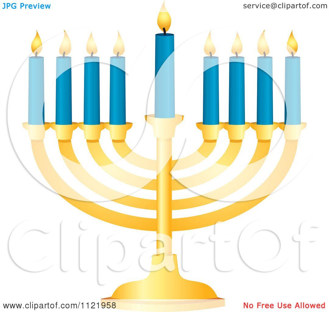 Hanukkah Lighting Menorah Clip Art – Clipart Download