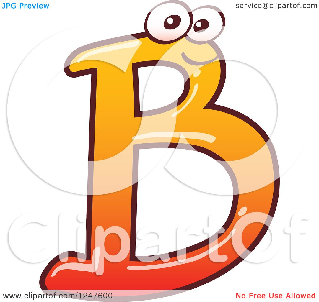 Orange Bebemon Capital Letter F