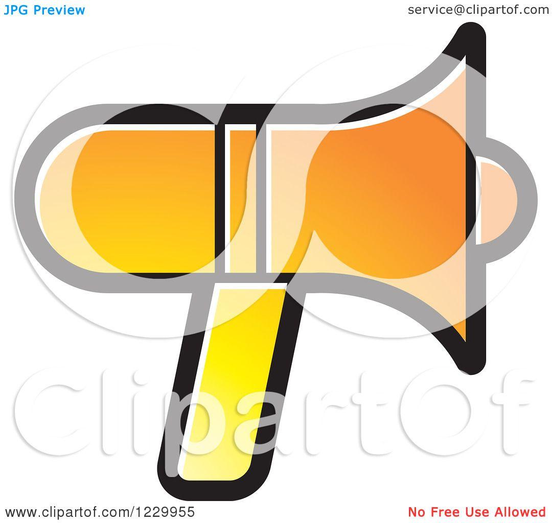 Clipart of a gradient orange megaphone icon royalty free vector clipart of a gradient orange megaphone icon royalty free vector illustration by lal perera publicscrutiny Gallery