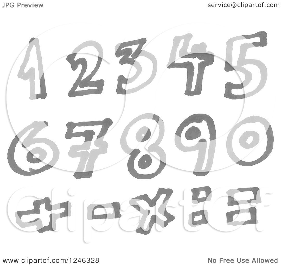 Clipart of a gray marker drawn numbers and math symbols royalty clipart of a gray marker drawn numbers and math symbols royalty free vector illustration by yayayoyo buycottarizona Image collections