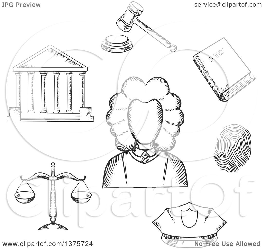 gavel coloring pages for kids