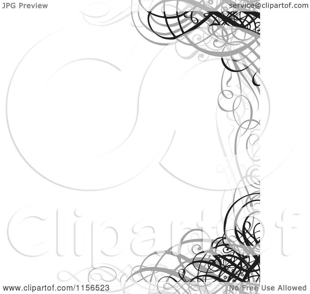 Clipart of a grayscale ornate swirl wedding invitation border clipart of a grayscale ornate swirl wedding invitation border royalty free vector illustration by bestvector stopboris Image collections