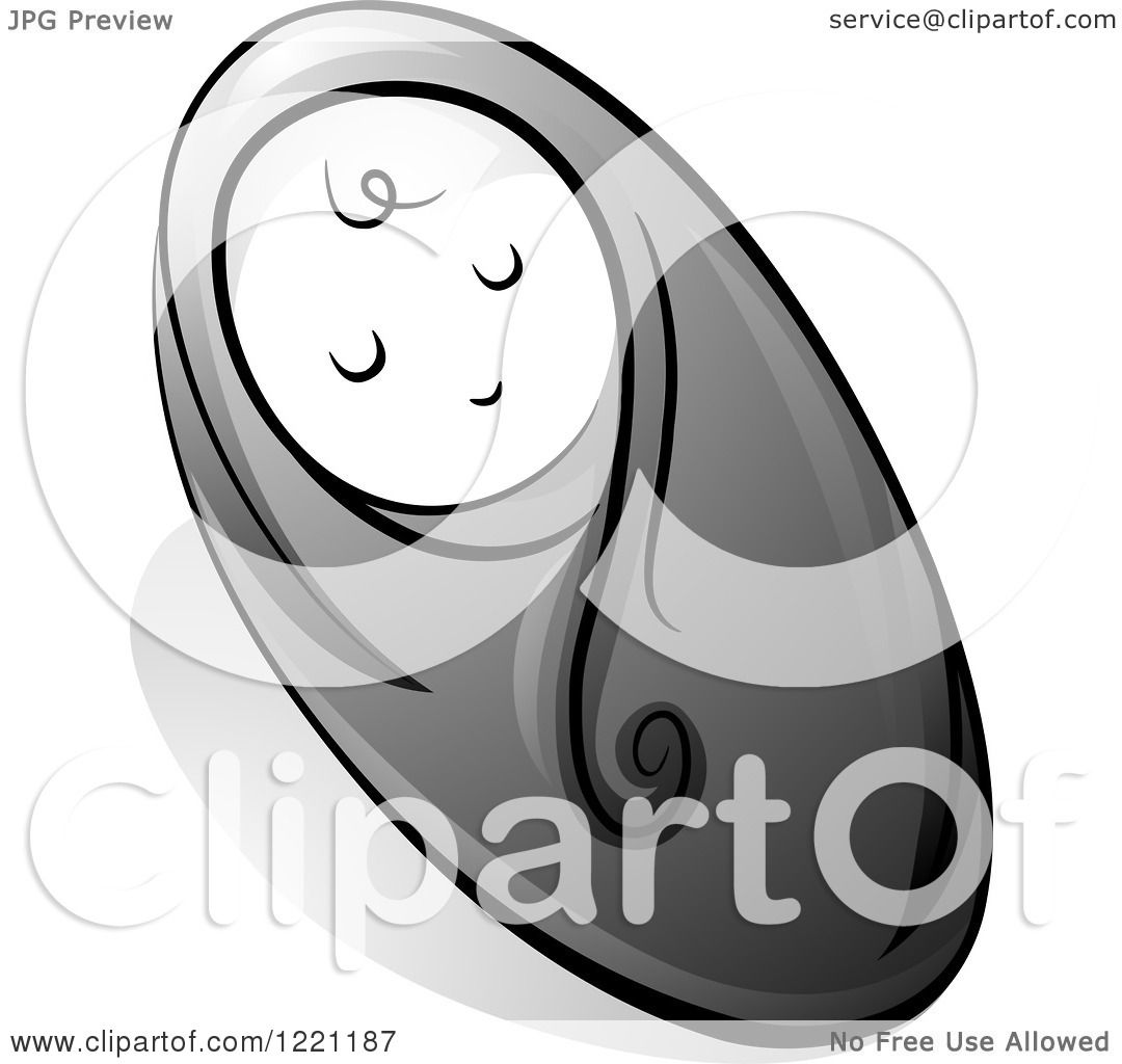 Baby Swaddled Clipart